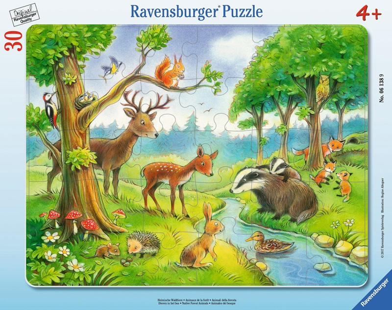 Ravensburger Puzzle Heimische Waldtiere 30 Teile