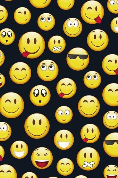 Geschenkpapier-Rolle Smiley 200 x 70 cm