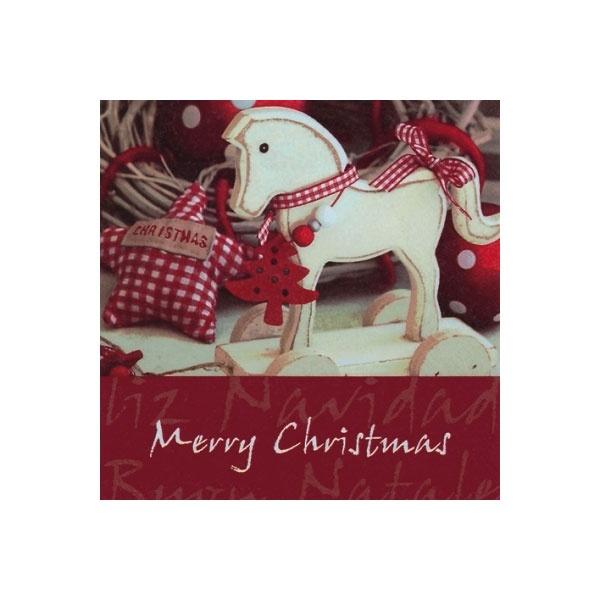 Servietten Weihnachten Wooden Horse