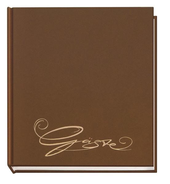 Gästebuch Classic braun mit Prägung