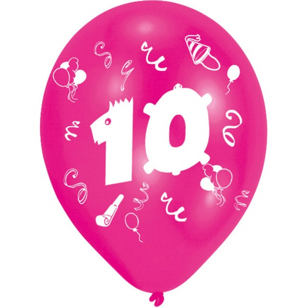 Luftballons mit Zahl 10