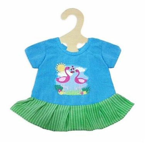 Heless Puppenkleidung Kleid Flamingo Gr. 28 - 35 cm