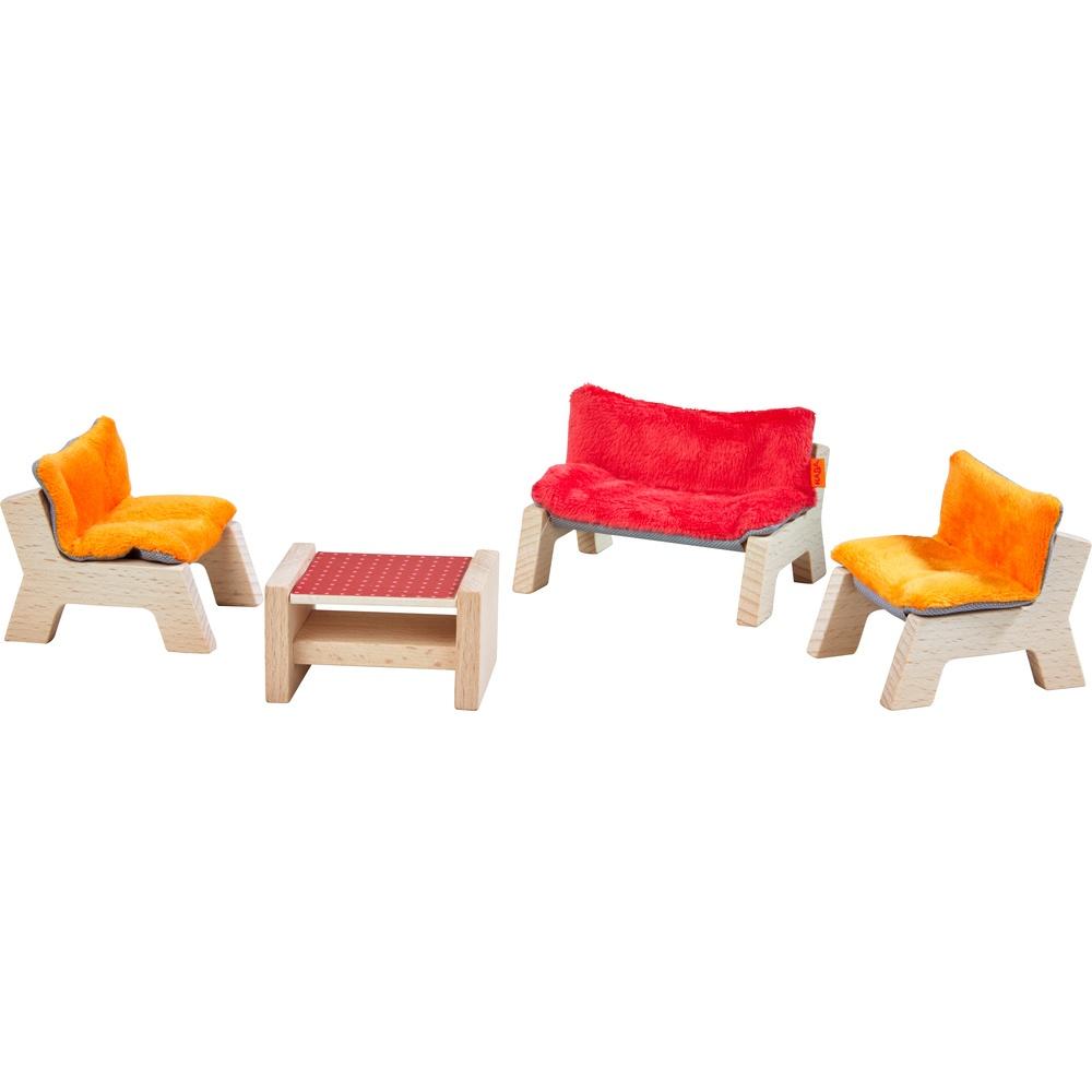 Haba Little Friends Puppenhaus-Möbel Wohnzimmer