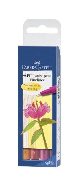 Faber Castell Tuschestift PITT S 4er warm colours