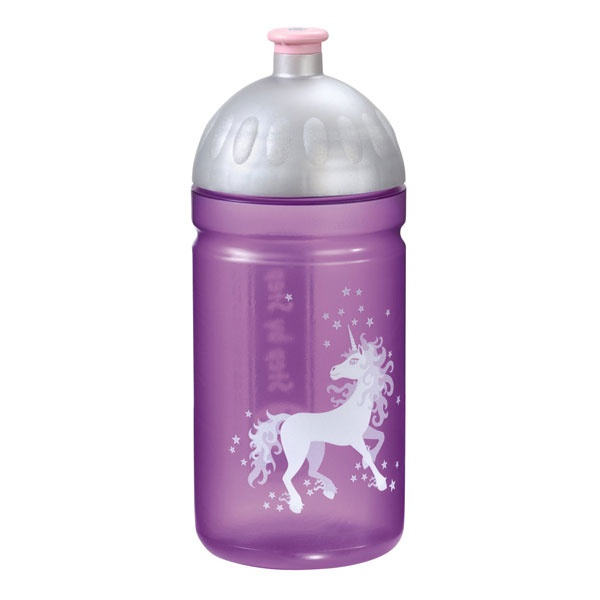Step by Step Unicorn Trinkflasche Flieder