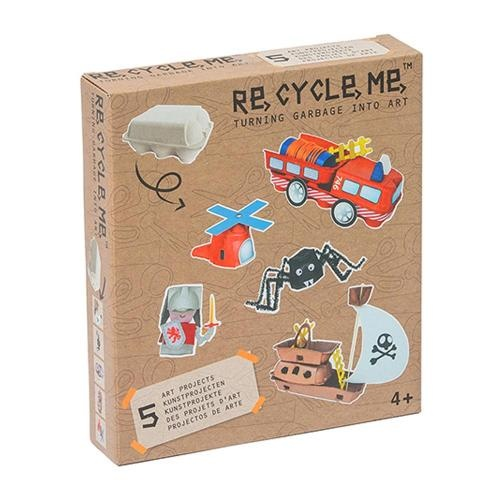 Re-Cycle-Me Bastelbox Basteln mit Eierbox für Jungen