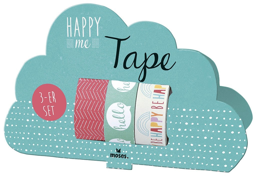 Happy Me - Tape 3er set Klebeband aus Papier