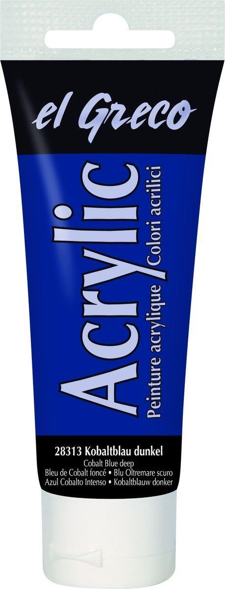 El greco Acrylic Acrylfarbe Kobaltblau dunkel 75 ml