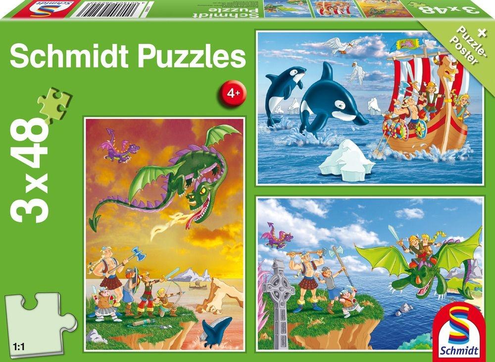 Schmidt Spiele Puzzle Wikinger 3 x 48 Teile