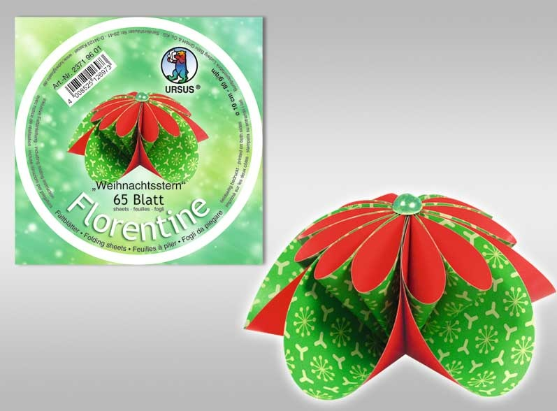 Faltblätter Florentine  Weihnachtsstern 10cm rund