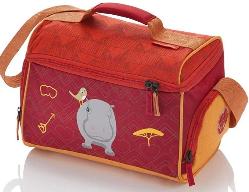 Travelite Youngster Reisetasche Nilpferd 14l rot gelb