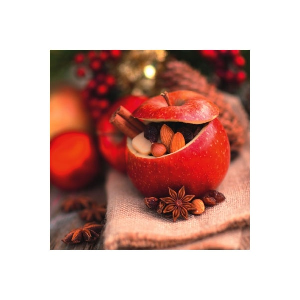 Servietten Weihnachten Roast Apple with Christmas Spices
