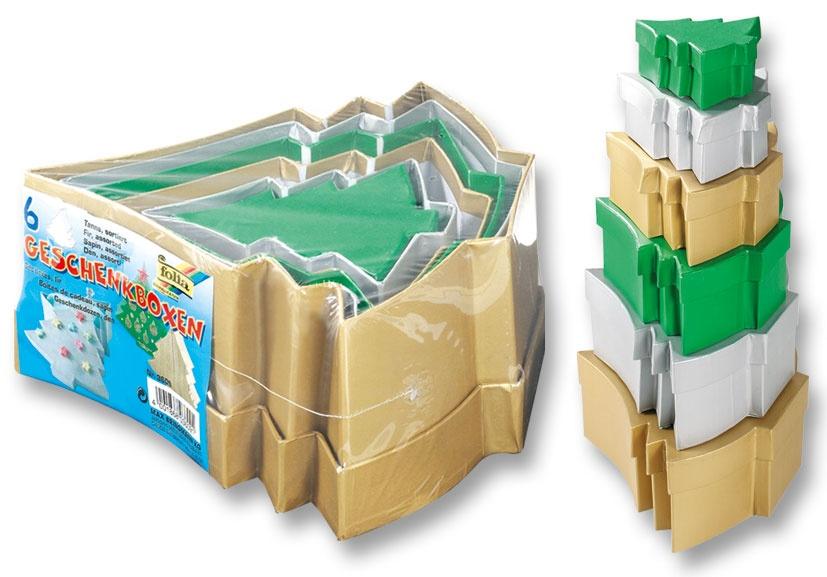 Folia Geschenkboxen Tanne 6 Stück