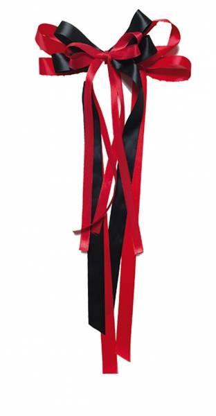 Schultütenschleife rot-schwarz