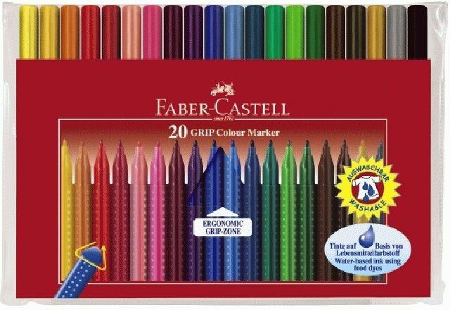 Faber Castell Fasermaler Grip Colour Marker, 20er