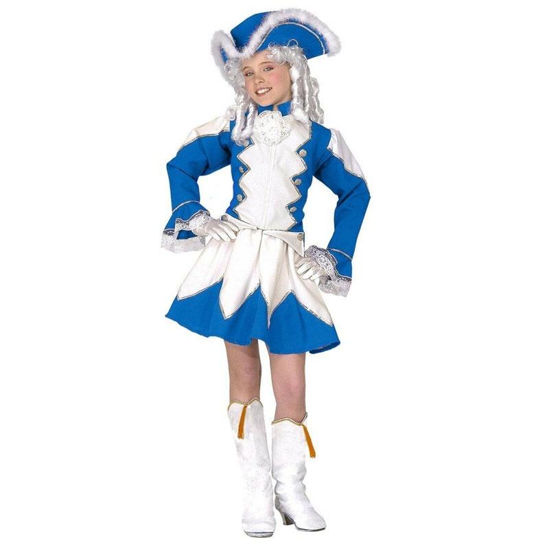 Kostüm Funkenmariechen blau 164