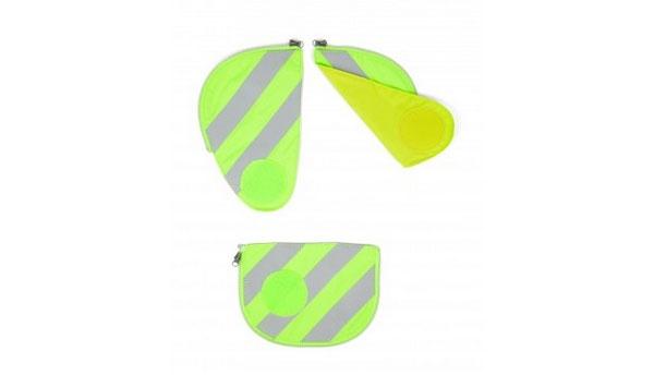 Ergobag Zubehör Pack Seitentaschen Sicherheitsset grün