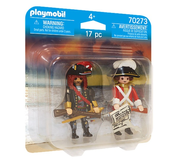 Playmobil 70273 Duo Pack Piratenkapitän u.Rotrock