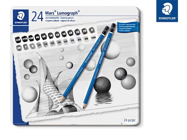 Staedtler Bleistift-Set Mars Lumograph 24 Stück Packung