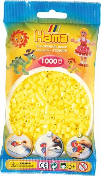 Hama Bügelperlen 1000 Stück pastell-gelb