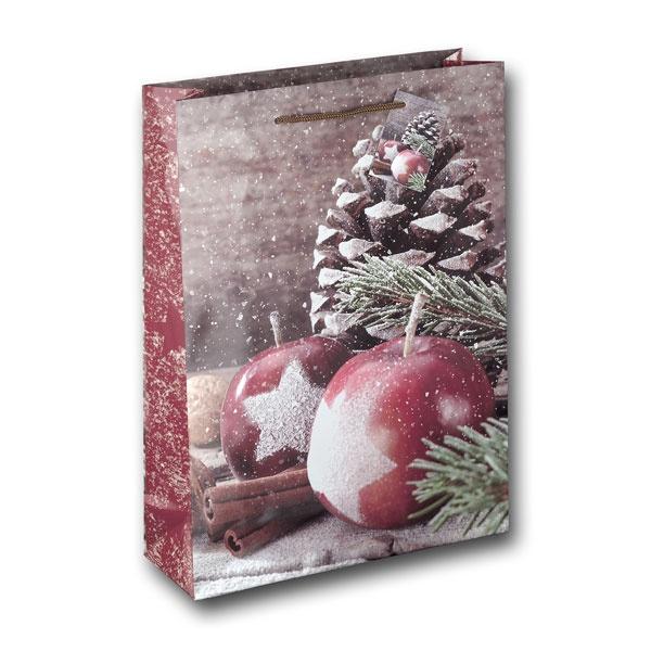 Papiertüte Weihnachtsapfel 25x8,5x34,5cm