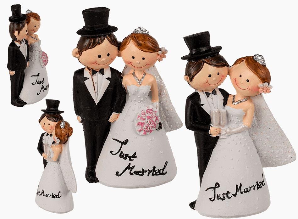 Hochzeitspaar Deko-Figur 10 cm