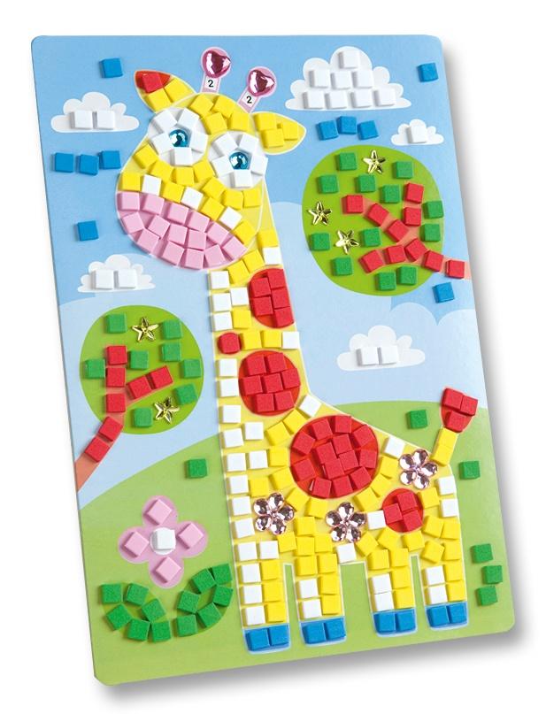 Folia Moosgummi Mosaik Giraffe