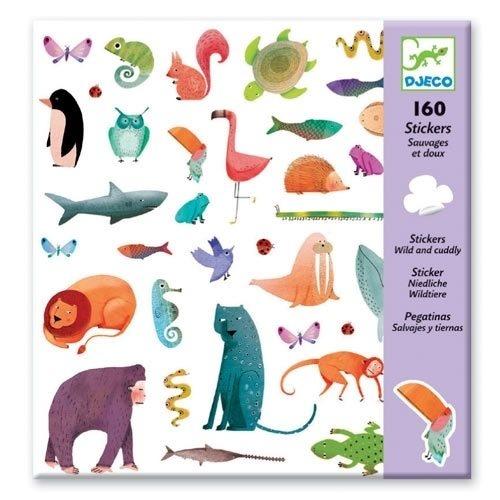 Djeco Bastelset 160 Sticker Niedliche Waldtiere