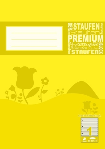 Arbeitsblätterblock A4 50 Blatt Lineatur 1