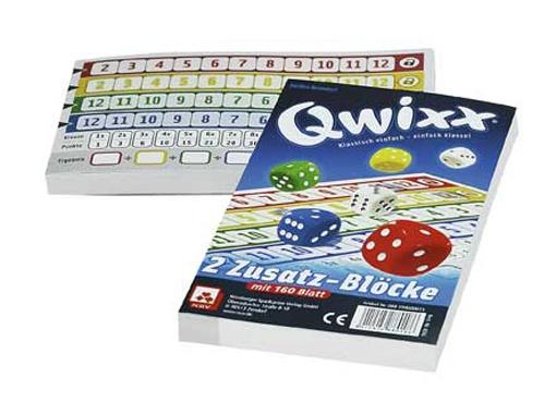 Nürnberger Spielkarten Qwixx 2 Ersatzblöcke