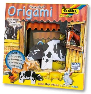 Origami Faltblätter Tierwelt Bauernhof-Tiere