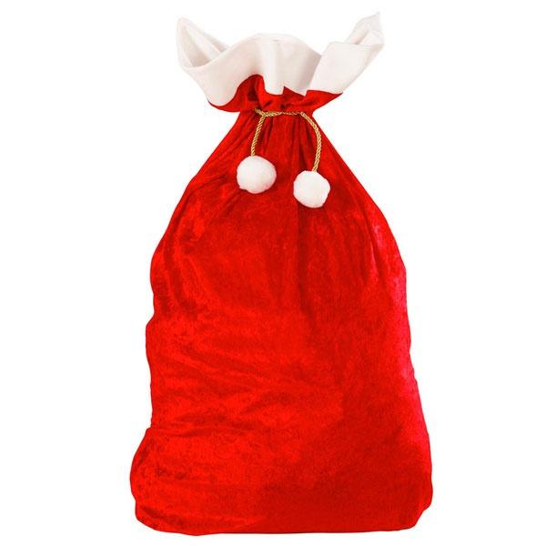 Kostüm-Zubehör Weihnachtsmannsack aus Samt Nikolaussack