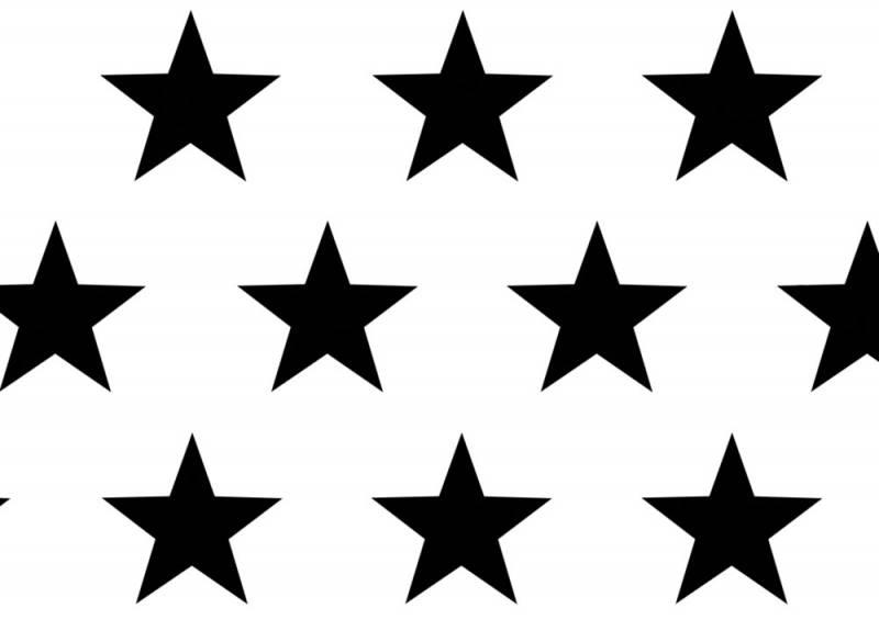 Geschenkpapier Grand Star schwarz