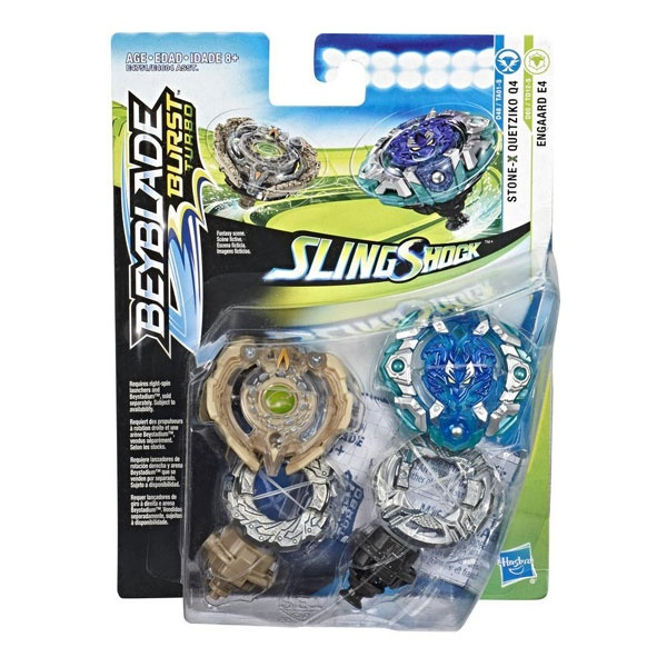 Beyblade Burst Turbo Slingshock Dual Pack Engaard E4 and Sto