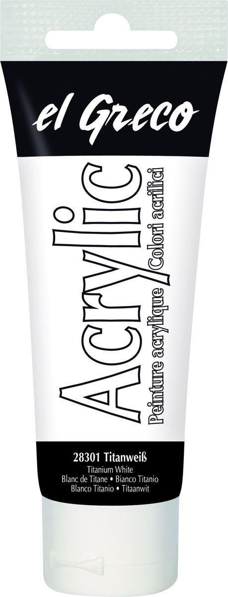 El greco Acrylic Acrylfarbe titanweiß 75 ml