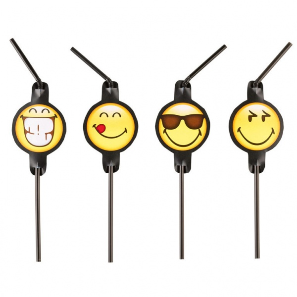Smiley Emoticons Trinkhalme