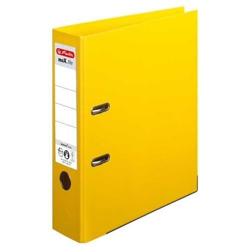 Ordner A4 max.file protect gelb 8 cm von Herlitz