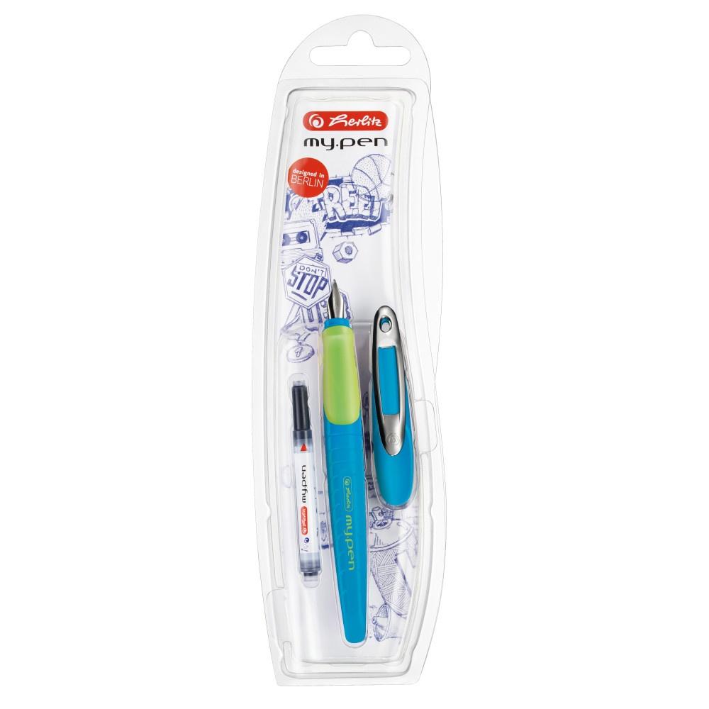 Herlitz Schulfüller my pen blau/neon