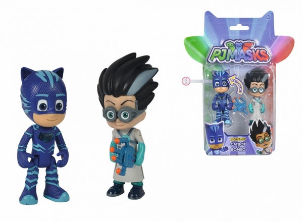 PJ Masks Light-Up Figuren-Set Catboy und Romeo