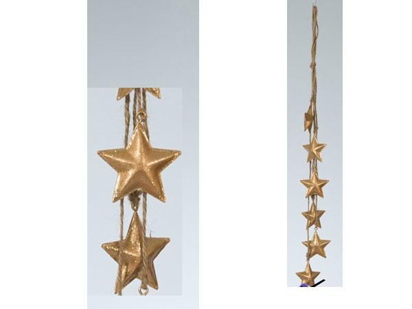 Christbaumschmuck Girlande Stern gold