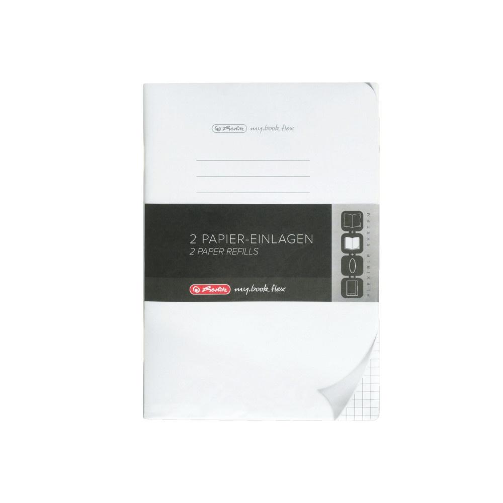 Herlitz Papiereinlagen A5 Refill flex kariert