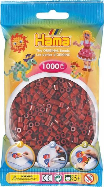 Hama Bügelperlen 1000 Stück maulbeer