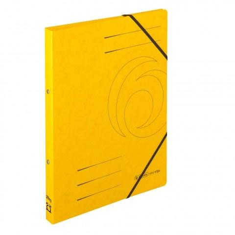 Ringhefter Colorspan-Karton A4 gelb von Herlitz