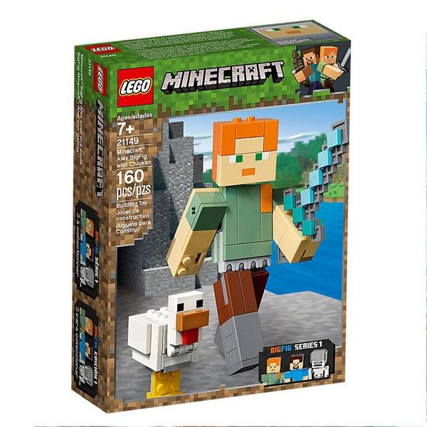 Lego Minecraft 21149 BigFig Alex mit Huhn