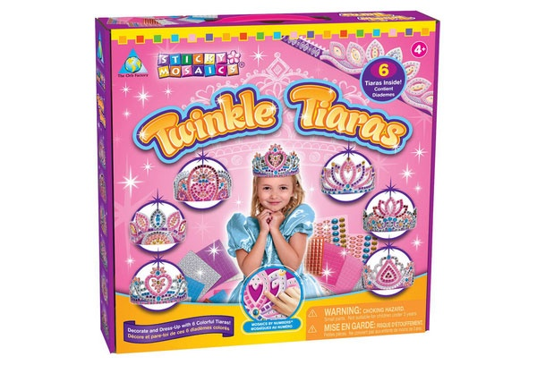 Bastelset Sticky Mosaik nach Zahlen Twinkle Tiara Diadem