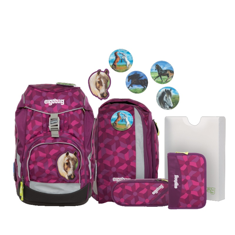 Ergobag Pack Schulrucksack-Set NachtschwärmBär