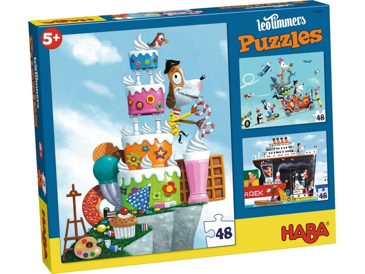 Haba Puzzle Leo Timmers Mister René 3 x 48 Teile