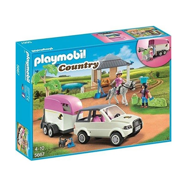 Playmobil 5667  Country Pick-Up mit Pferdeanhänger