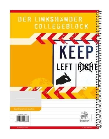 Collegeblock Linkshänder A4 80 Blatt liniert