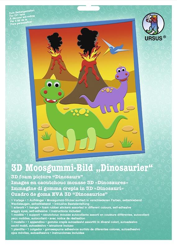 Bastelmappe Moosgummi-Bild 3D Dinosaurier